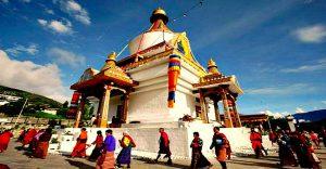 Hotel Norbuling, Thimphu, Memorial Chorten. In memory of the 3rd King of Bhutan, Must see sights of Thimphu Bhutan
